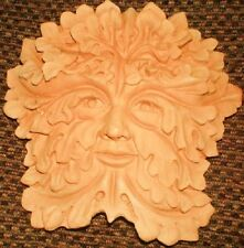 Green Man Plaque, Latex Rubber Craft Mould Reusable Art, Hobby Wicca, Pagan.LOTR