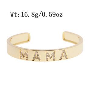 Luxury Gold Wrist Cuff Stainless Steel Women Fashion Jewelry Bangle Band Gift