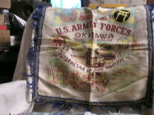 Post Ww 2 Pillow Cover For U.S. Armed Forces Okinawa Gibraltar Of The Pacific