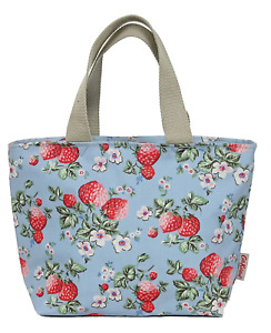 Cath Kidston  Lunch Tote Bag  Strawberry Dusky Blue Colour
