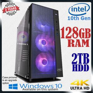 Intel Dual Core Computer 128GB RAM 2TB Multimedia & Gaming Desktop PC i5 i7 upg
