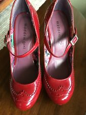 """MADDEN GIRL Red Patent Leather Pumps/Heels/Stilettos/Shoes Sz 5 1/2""""*"""