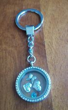 Custom Loss of son in memory of death life floating living charm keychain