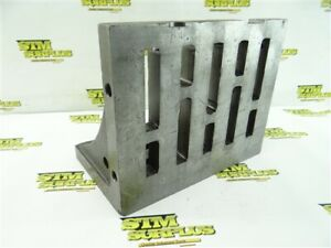 """CAST IRON RIGHT ANGLE PLATE W/ SLOTS 1"""" X 6-1/8"""" X 8-1/4"""" X 10-1/4"""""""