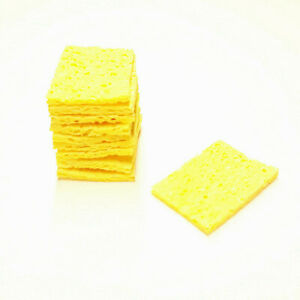 20pcs Soldering Iron Sponges Tip Cleaners Cleaning Sponge High Temp USA