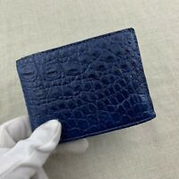 Genuine Blue Alligator Crocodile Leather Skin MEN'S BIFOLD Wallet #WM20