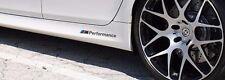 2x BMW M Performance side skirt Black decal sticker logo F20 F30 E60 F10 E90 E46