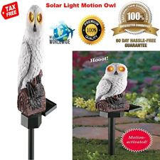 Solar Hooting Light Owl for Garden Yard Stake Statue and Figurine with Sound USA
