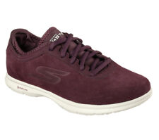 Women's Skechers Go Step Lace-up Trainers in Burgundy UK 5 / EU 38