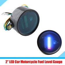 """2"""" LED Display Fuel Level Gauge Meter Car Motorcycle Delay Function Waterproof"""