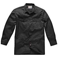 Dickies - Long/S Work Shirt Schwarz/Black Arbeitshemd Hemden