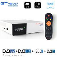 FTA DVB-C Tuner DVB-S2 Android satellite receiver DVB-T2 receptor Youtube Combo