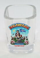 DELAWARE STATE MONTAGE SQUARE SHOT GLASS SHOTGLASS