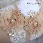 White Lace Wedding Garter Set Leg Garter Bridal Garter Sets Wedding Supplies