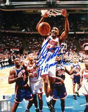 ARMON ARMEN GILLIAM SIGNED AUTOGRAPHED 8x10 PHOTO NEW JERSEY NETS BECKETT BAS