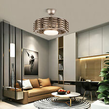 """New ListingCeiling Fan Lamp 22"""" Bladeless Dimmable Led Chandelier Light w/ Remote control"""