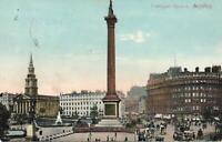 1907 VINTAGE Beagles Trafalgar Square London POSTCARD to Adelaide SA