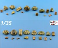 1:35 resin modelling/dioramas accessories kit - bags and guns /3514