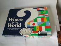 Vintage (1986) WHERE in the WORLD? Board GAME Educate GEOGRAPHY/World Awareness