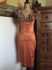 Roberto Cavalli Just Cavalli Orange Wiggle Dress IT40 US2-4