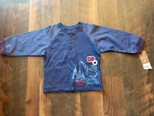 Size 9m blue Nwt Work Zone Construction Long Sleeve Baseball t-shirt by Carter'S