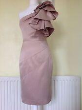 EXQUISITE KAREN MILLEN CHAMPAGNE DRESS UK 10