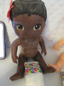 HASBRO BABY ALIVE DRINK AND WET DOLLS HARD BODIES