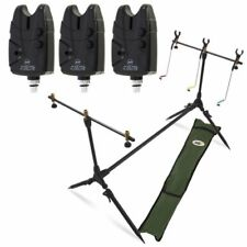 NGT Carp Fishing POD & Swingers with 3 Bite Alarms, 3 Rod Rests & Bag