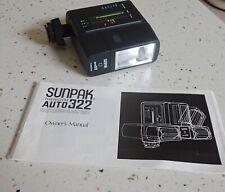 Sunpak Auto 322 Thyristor Hot Shoe Mount Flash