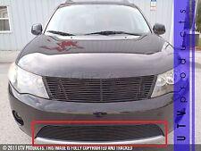 GTG 2007 - 2009 Mitsubishi Outlander 1PC Black Overlay Bumper Billet Grille