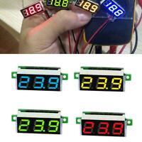 0.28 Inch 2.5V - 30V Mini Digital Voltmeter Voltage Testers 4 Meter Colors X5H1