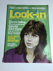 LOOK IN MAGAZINE -  DAVID CASSIDY - INCLUDING CENTRE POSTER OF NEIL DIAMOND
