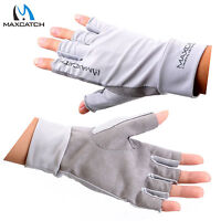 Maxcatch 1 Pair Fly Fishing Anti-UV Protection Gloves UPF50+ Half Finger L/XL
