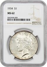 1934 $1 NGC MS62 - Peace Silver Dollar