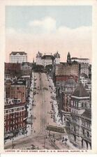Postcard Looking Up State Street from D & H Building Albany Ny