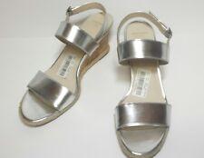 NEW**Cole Haan Lane Wedge Women US 9 Silver Wedge Sandal