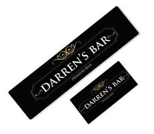More details for personalised premium beer mat label bar runner ideal home pub cafe occasion