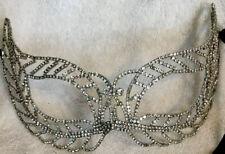Multi Clear Gold Color Crystal Rhinestone Royal Venetian Masquerade Mask Prom