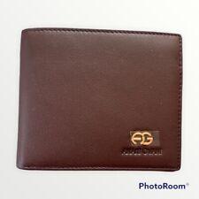 NIB Italian Classic Anais Gvani Men Genuine Leather Wallet Billfold Card Holder