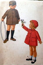 LOVELY VTG 1960s CHILDS COAT & HAT McCALLS Sewing Pattern 1