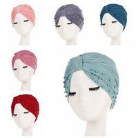 Women Muslim Cancer Chemo Turban Hat  Lady Beanie Scarf Turban Head Wrap Cap