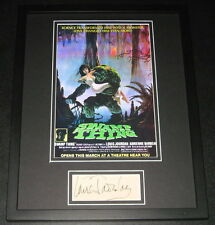 Louis Jourdan Swamp Thing Signed Framed 11x14 Photo Display JSA