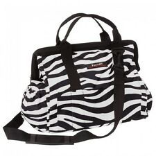Tough-1 Show Case Groom Bag --BLACK & WHITE ZEBRA --NEW