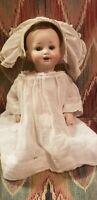 """ANTIQUE HERMANN STEINER BISQUE HEAD CHARACTER BABY DOLL 11"""""""