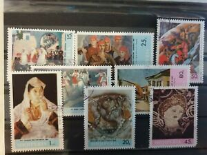 Albania 1967 Albanian Paintings. 8 stamp set CTO