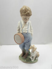 Lladro Figurine #6846 Friendly Duet, Boy & Dog, with Box