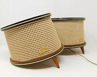 Vintage RETRO Isophon Speakers Pair UNTESTED Music Stereo Equipment 1960's