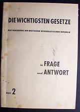 """Taschenbuch """"Gesetze der DDR"""" von 1951"""