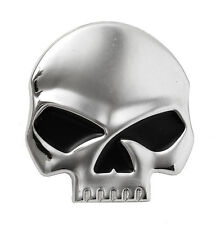 MEDAILLON SKULL CHROME YEUX NOIRS POUR HARLEY-DAVIDSON