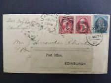 Pennsylvania: Edinburg 1895 Cover to Scotland, Fancy Negative D Cancels
